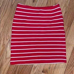 Banana Republic Stripe Mini Skirt